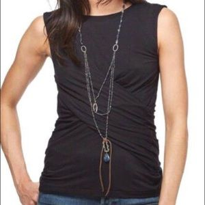 Free People Knit Love Me Tank in Black - small NWT